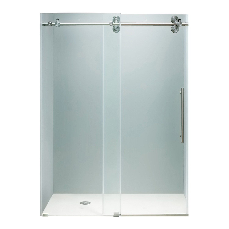 glass sliding shower doors frameless. Glass · Vigo Industries Vg6041 Frameless Tempered Sliding Shower Door Doors L