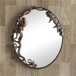 Octopus Oval Wall Mirror | Octopuses | Pinterest | Walls, House ...