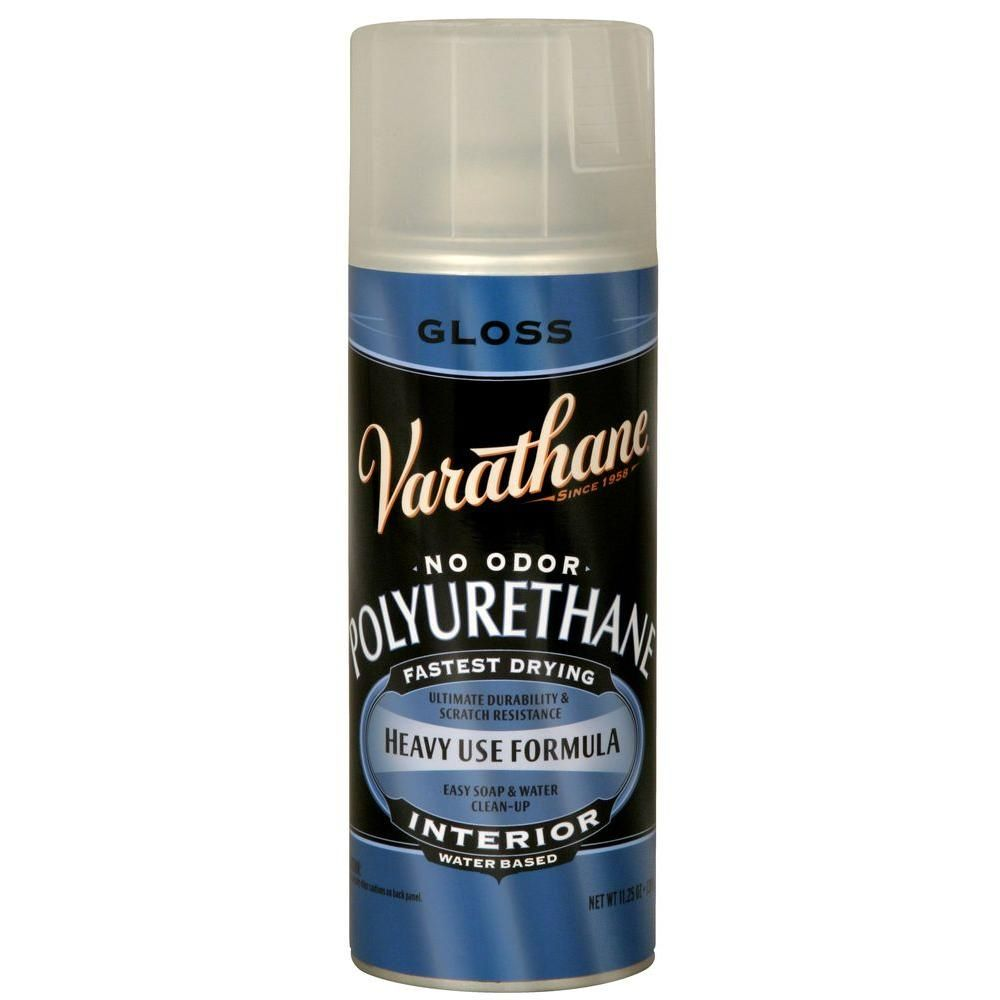 Varathane 11 25 Oz Clear Gloss Water Based Interior Polyurethane Spray Paint 6 Pack 200081 Aerosol Spray Paint Silhouette Projects