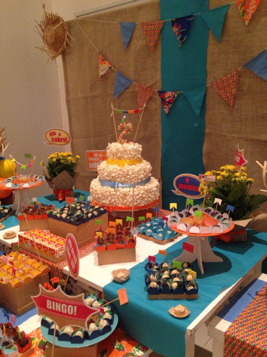 Alegria Em Festa De 2 Anos Bolo De Pipoca Aniversario Festa