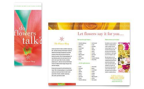Florist Shop Brochure Template Design  Stocklayouts
