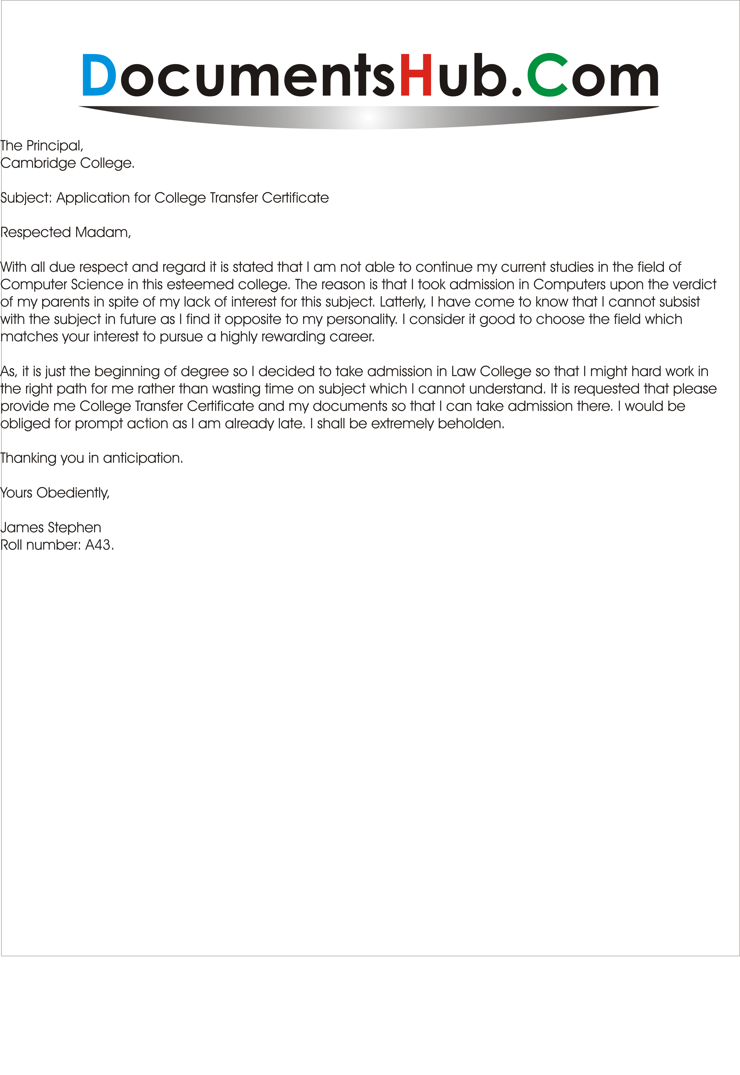 Request letter format for school transfer certificate bonafide request letter format for school transfer certificate bonafide from application yadclub Images