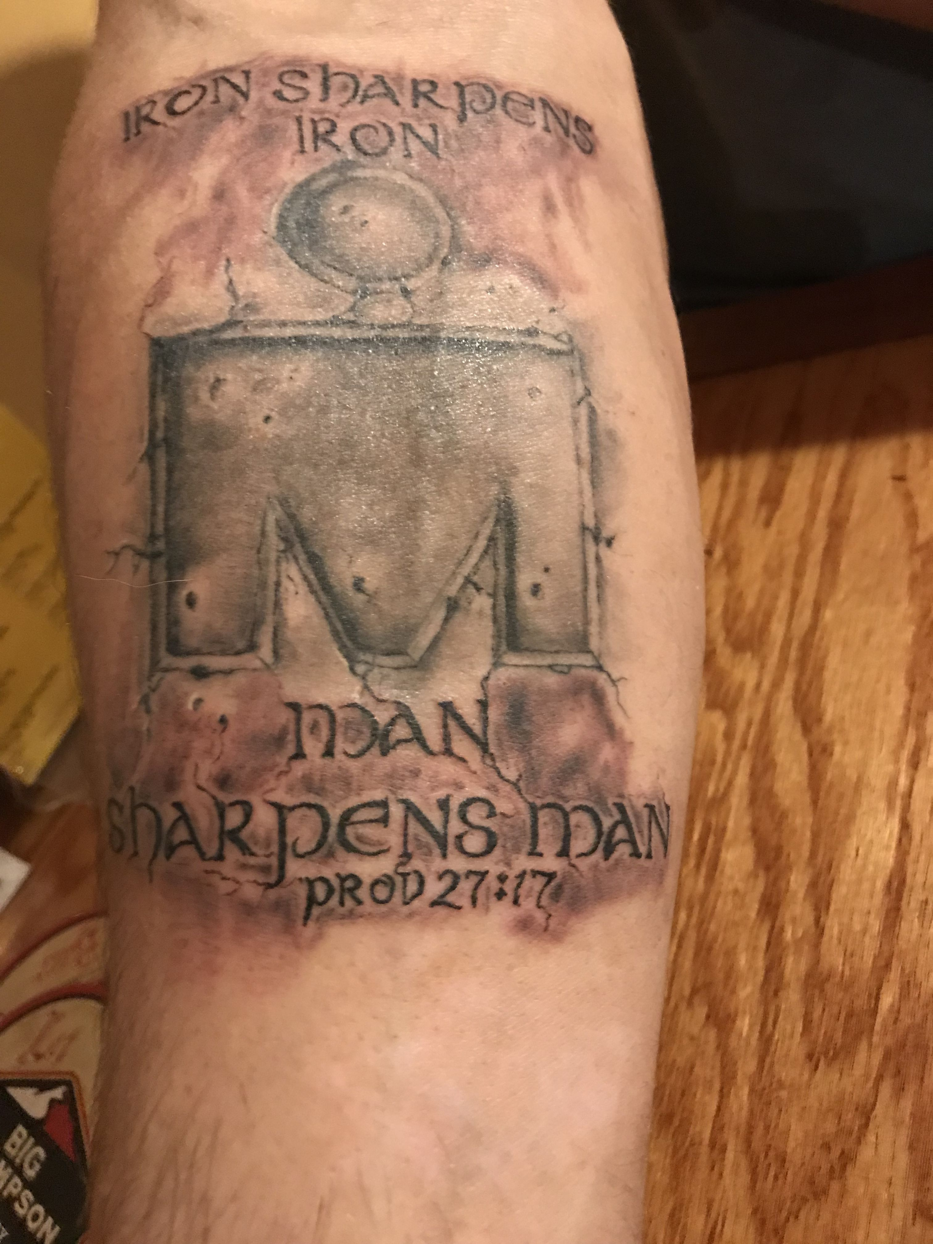 Iron Sharpens Iron Tattoo : sharpens, tattoo, Ironman, Tattoo...iron, Sharpens, Iron., Tattoo,, Iron,, Tattoos