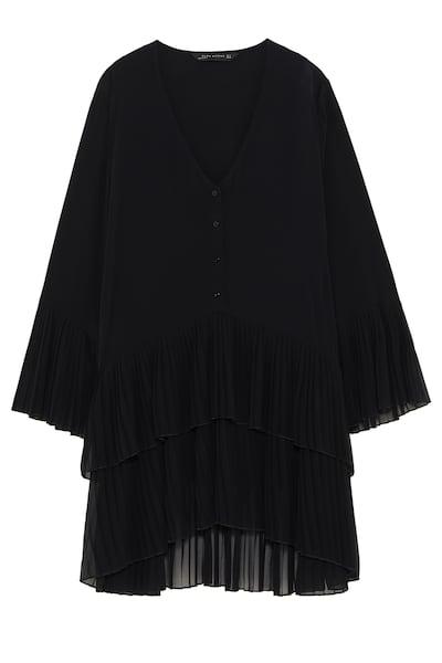Kontrast Pilili Bluz Tumunu Gor Ust Giyim Kadin Zara Turkiye Ust Giyim Giyim Tarz Moda