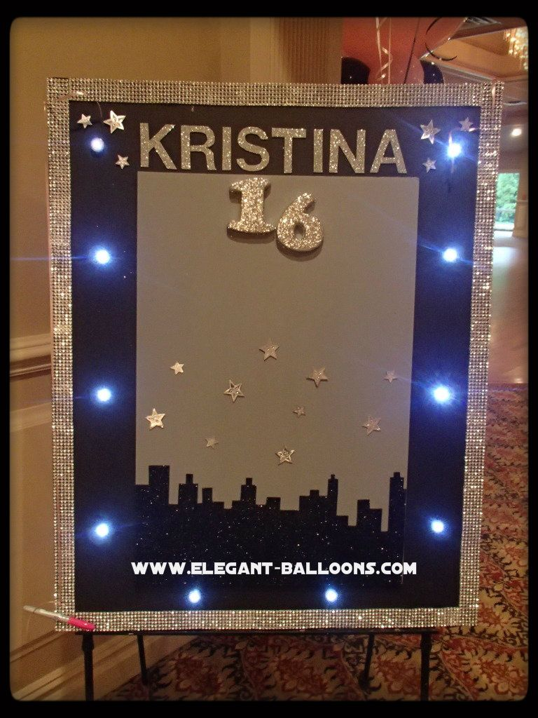 Sign In Board With Lights For Sweet 16 Sweet 16 Sign Sweet Sixteen Parties Sweet 16 Birthday Party