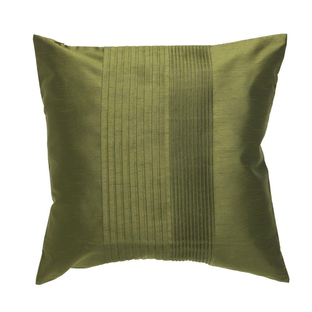Wilko Pleated Cushion Moss Green 43cmx43cm | Pleated Cushions ...