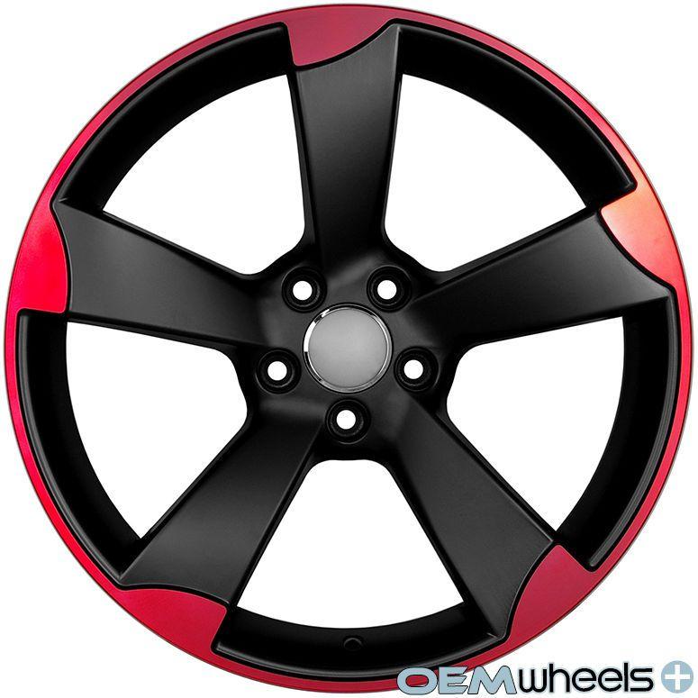 18 Red Rs3 Style Wheels Fits Vw Cc Eos Golf Gti Jetta Mk5 Mkv Passat B6 Rims Modifikasi Mobil Mobil Velg