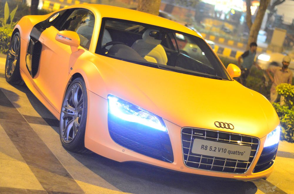 Audi's monstrously powerful coupe, the Audi R8 Hot