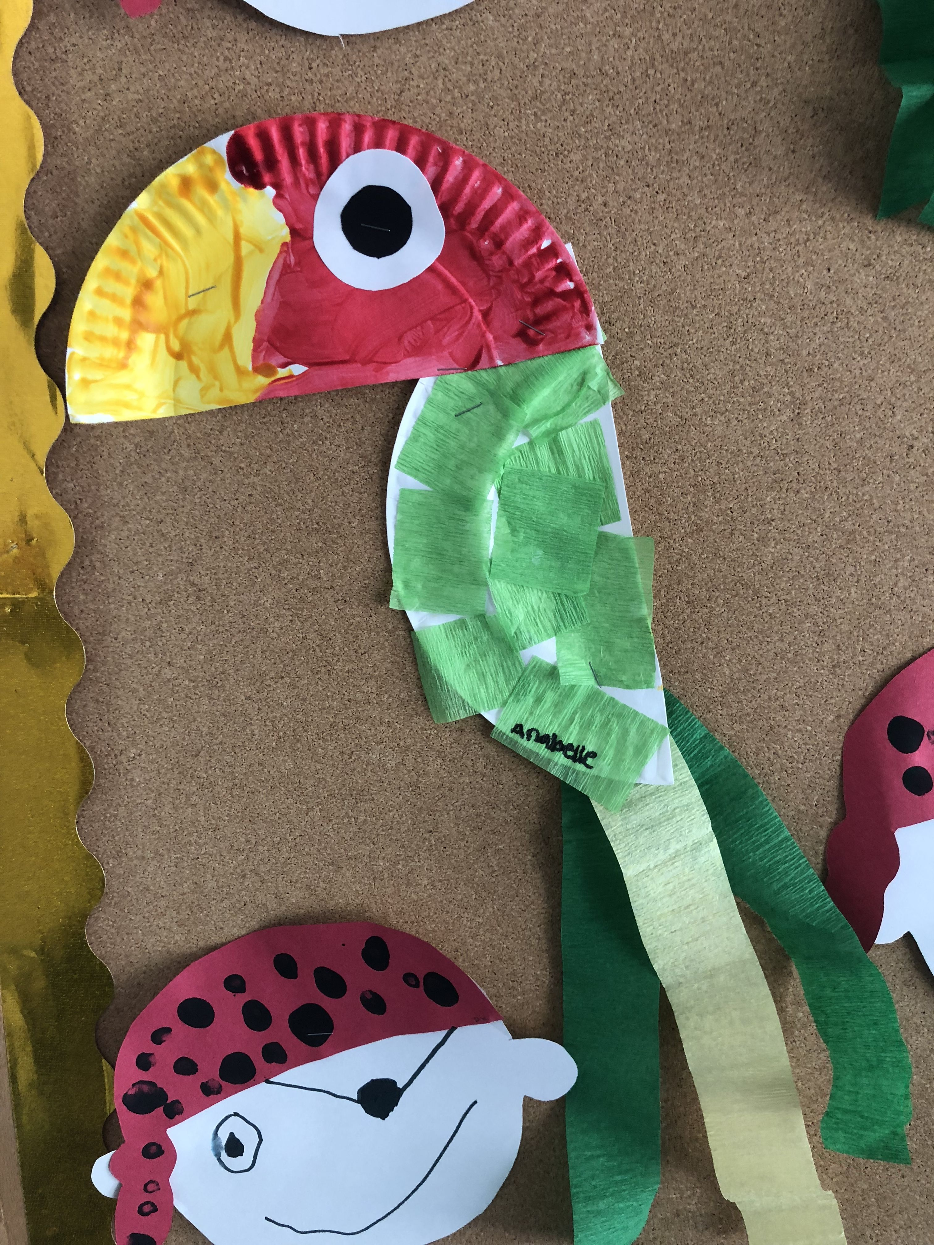 Parrot Preschool Pirate Theme Craft