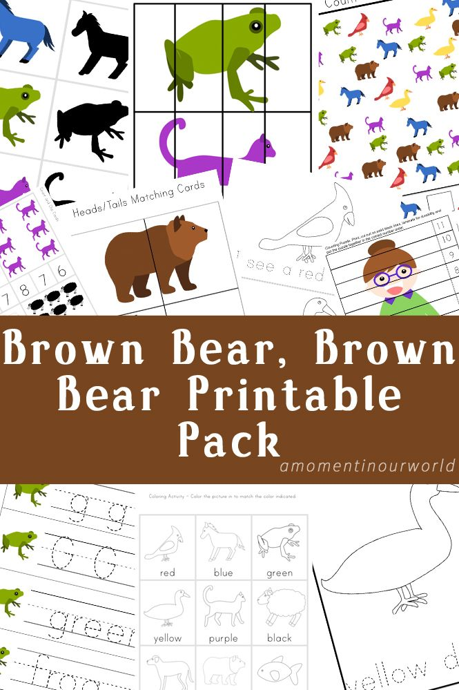 Brown Bear Brown Bear Printable Pack School Pinterest Brown