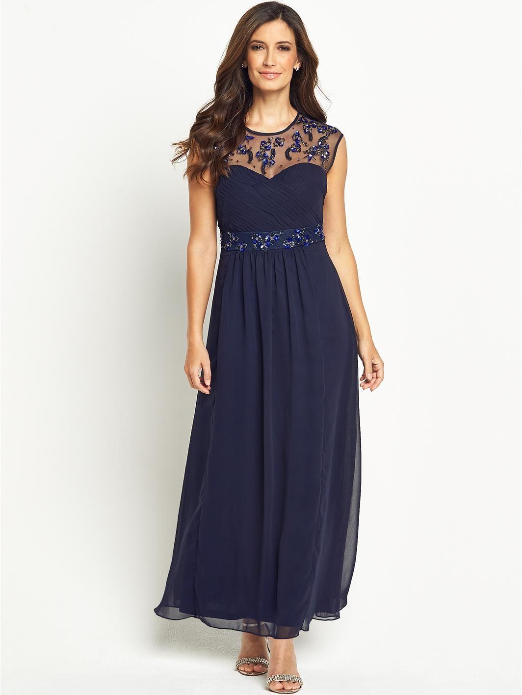 Embellished Top Maxi Dress, http://www.very.co.uk/berkertex ...
