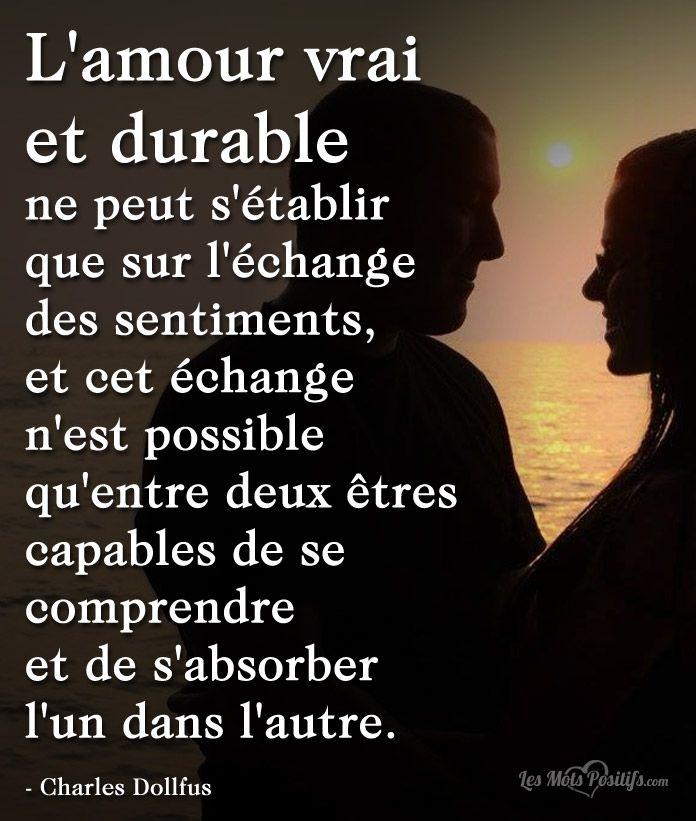 L Amour Vrai Et Durable Le Vrai Amour Amour Et Citations D Amour