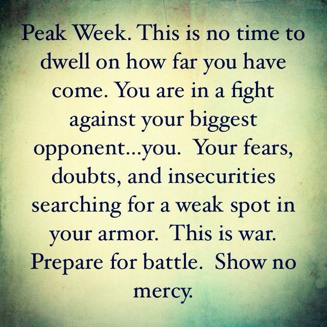 peak week fitness pinterest motivation