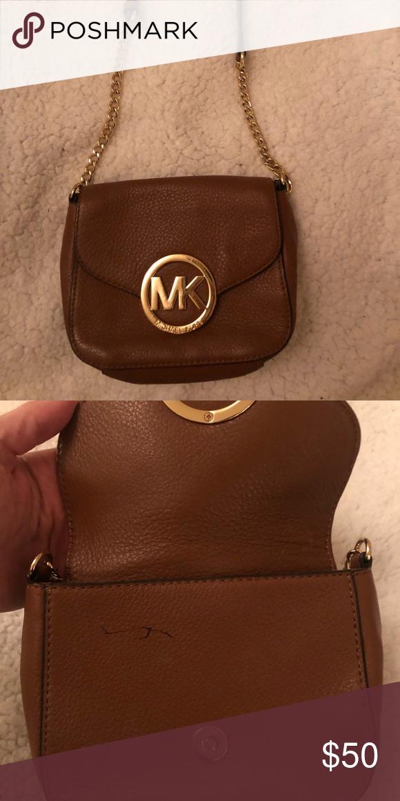 96e66793d0b7 Michael Kors Side Purse Brown leather Michael Kors small side bag ...