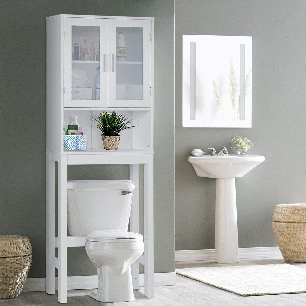Bestcomfort Bathroom Organizer Over Toilet Storage Above The Toilet S Rangement Au Dessus De La Toilette Stockage De Toilette Organisation De La Salle De Bain