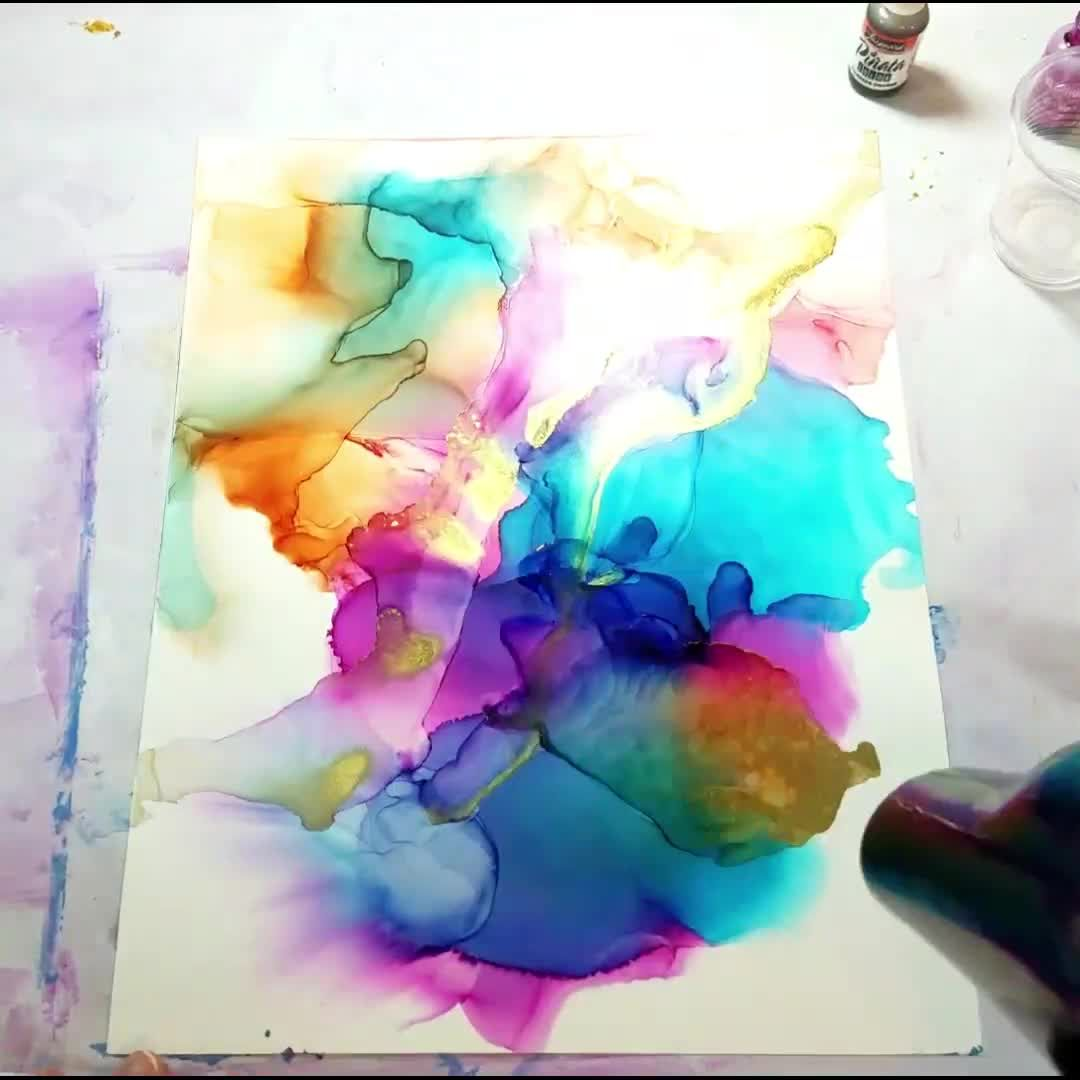 Photo of Alcohol Ink Color Explosion