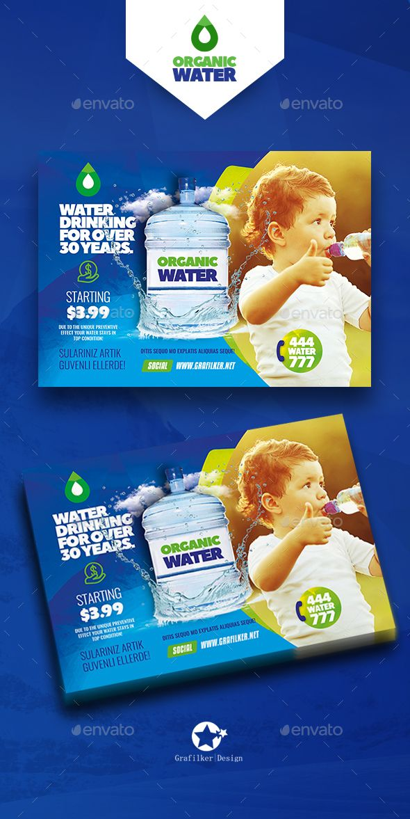 Drinking Water Service Flyer Template Psd Indesign Indd