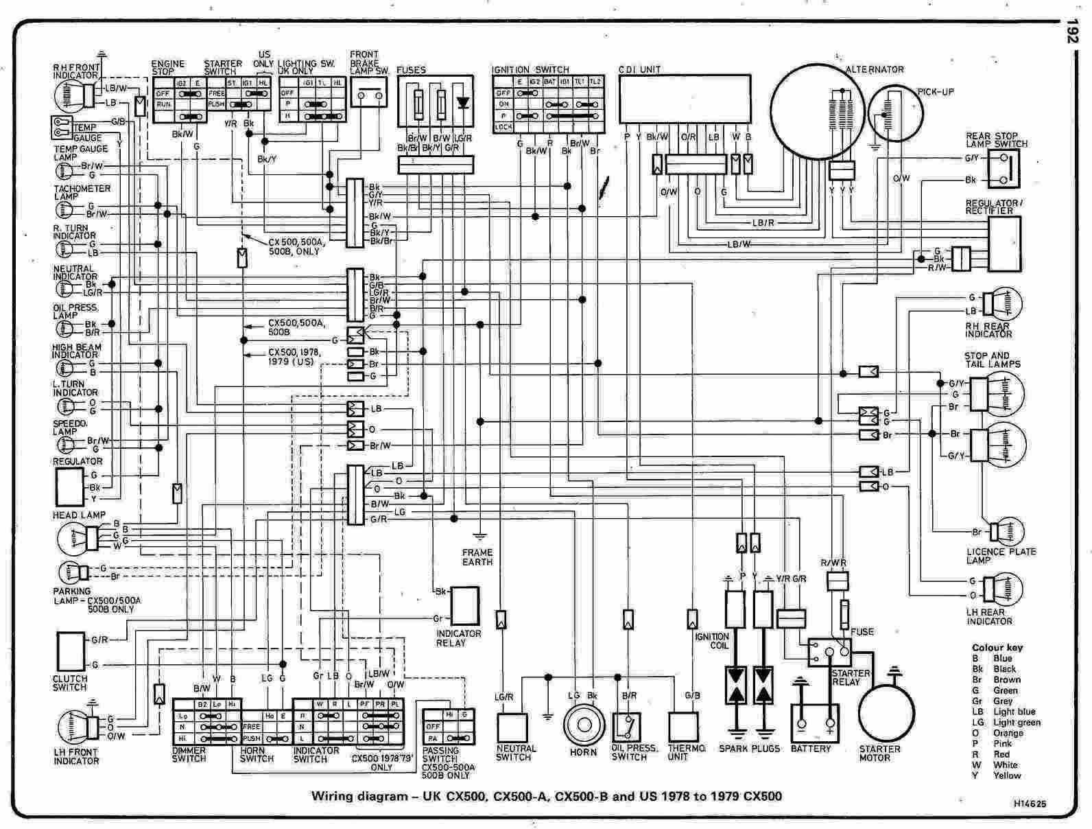 CX500    wiring       diagram     general    CX650      Honda    cx500     Honda     Motorcycle