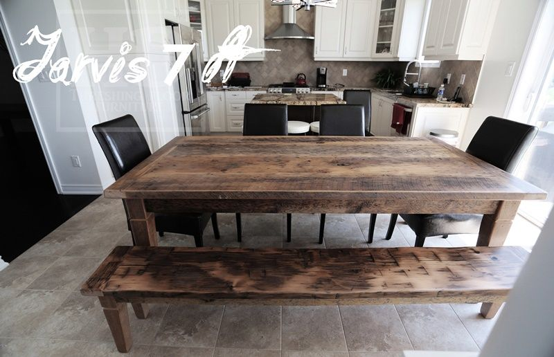 Charmant Gray Reclaimed Harvest Table