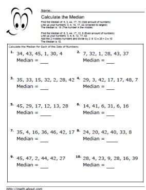 Collection of Finding Averages Worksheets - Sharebrowse