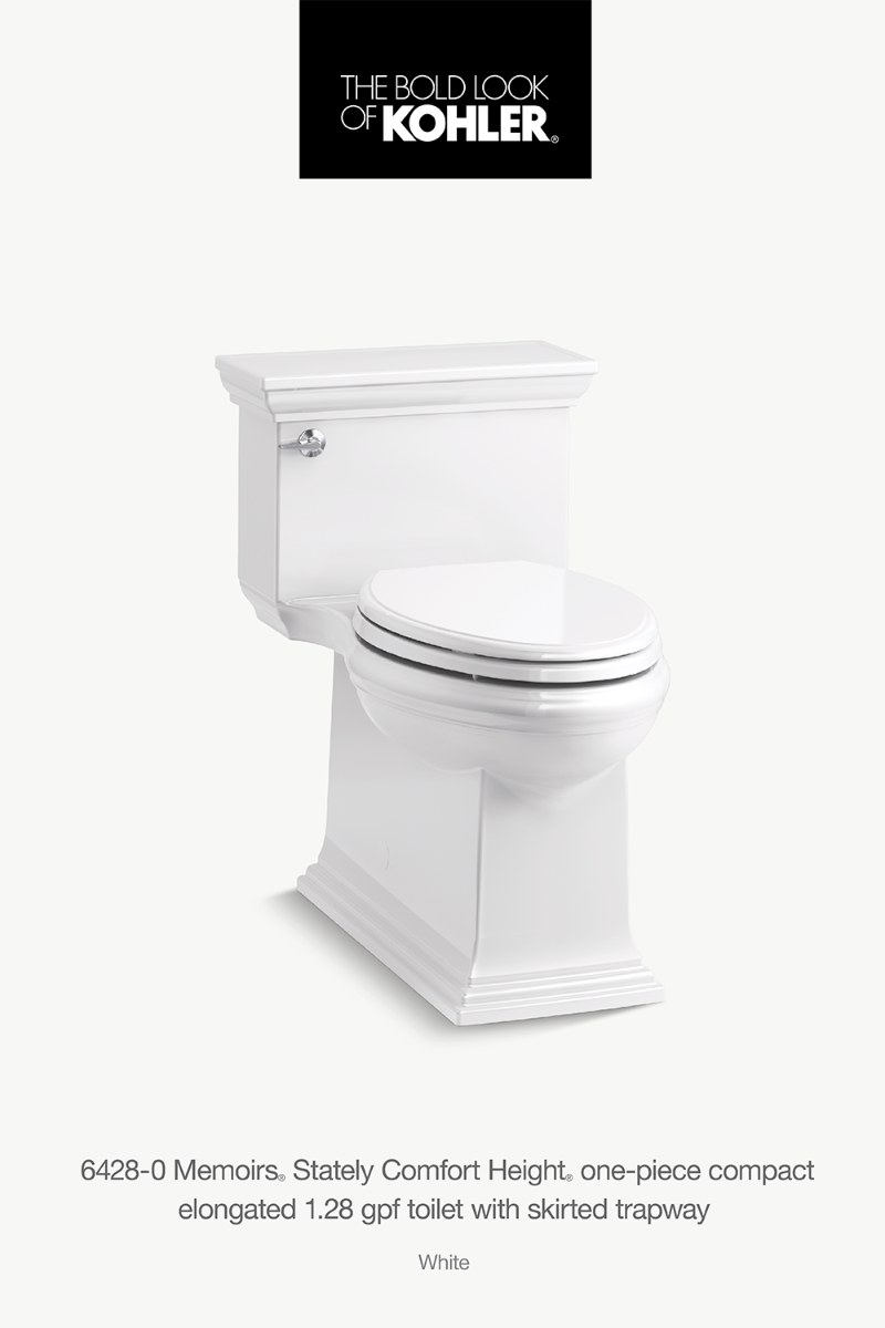 K 6428 Memoirs Stately Skirted 1 28 Gpf Toilet Kohler In 2020 Custom Bathroom Dream Bathroom Bathroom Styling