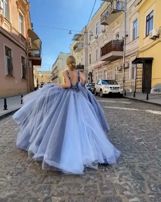 Glamorous Blue Long Prom/Evening Dress