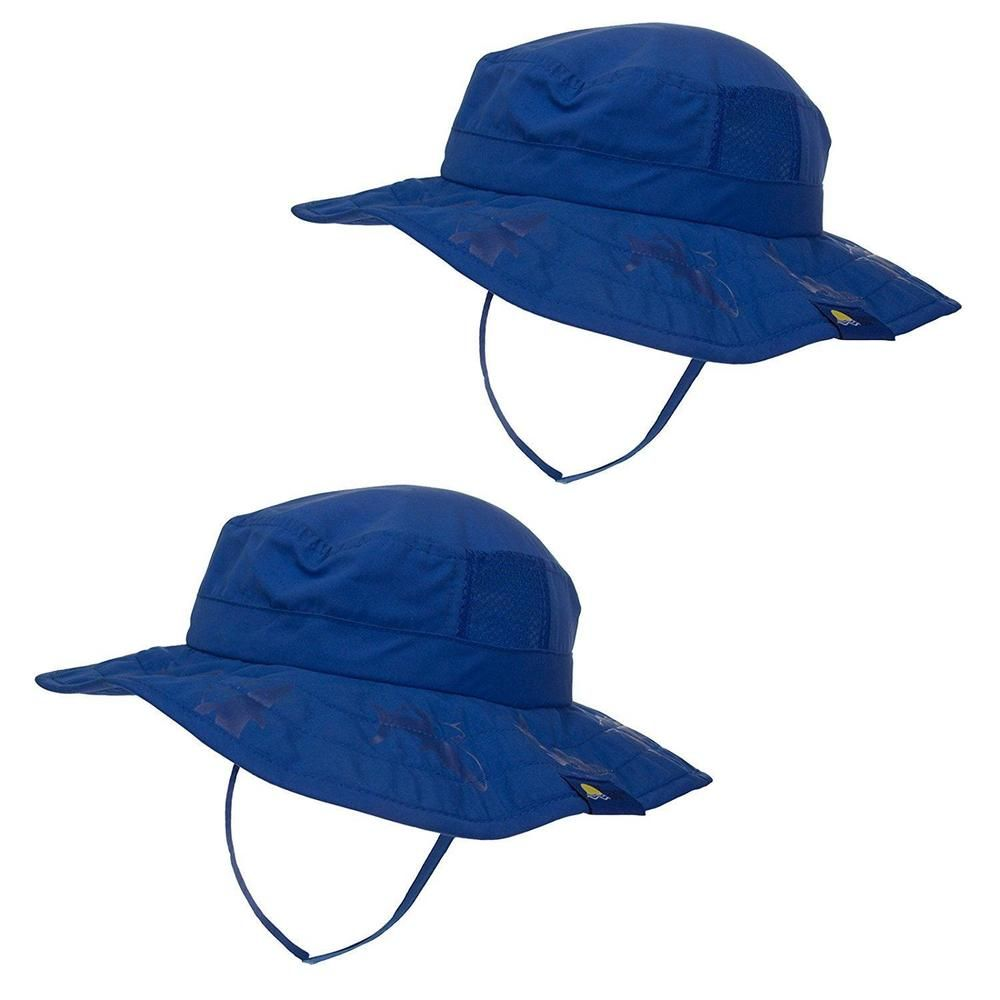 cb6a22240ba Sun Hat Protection Swim Pool Kids Sharks Boy UPF Block Shade Strap 2 Pack  NEW  SunProtectionZone