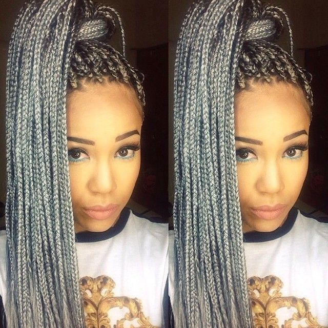 Tresses Afro Gris