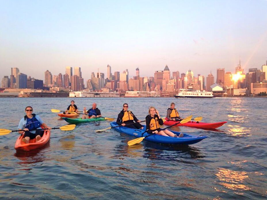 Kayaking in the Hudson river