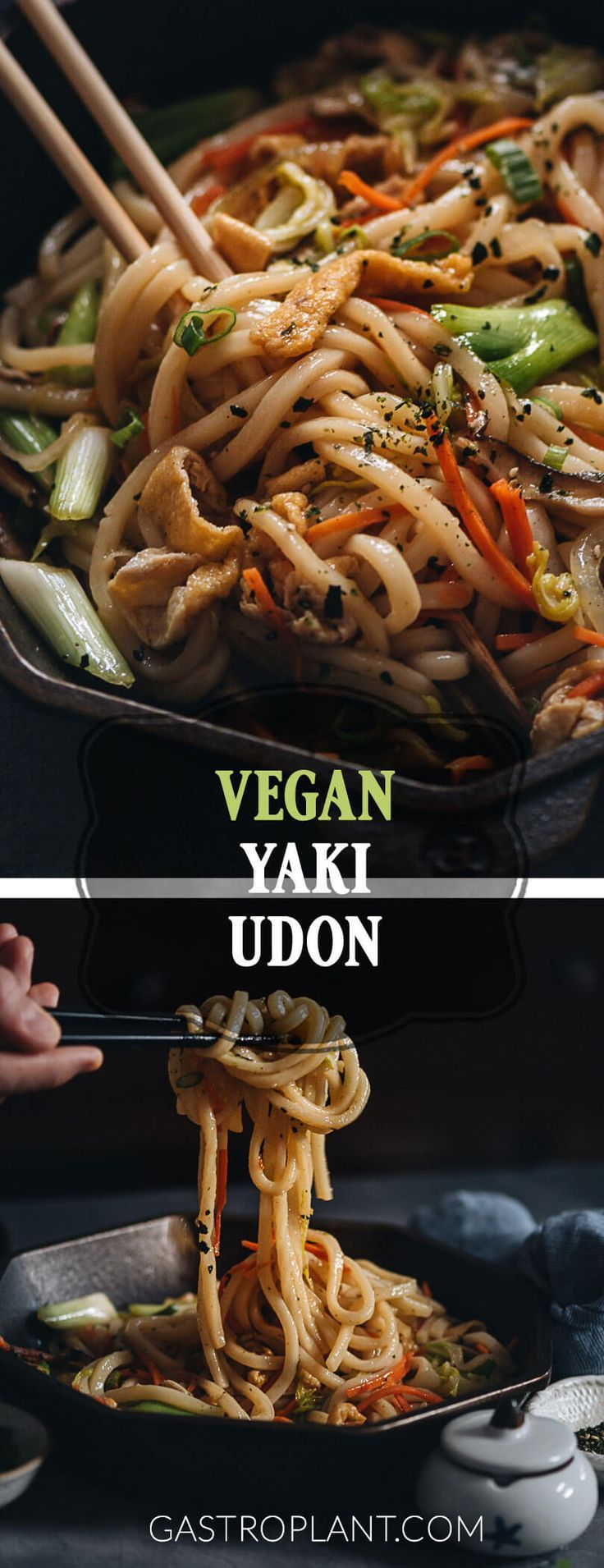 Vegan Yaki Udon | Nouilles épaisses et tendres, légumes assortis et champignons shiitake ...,  #asso...