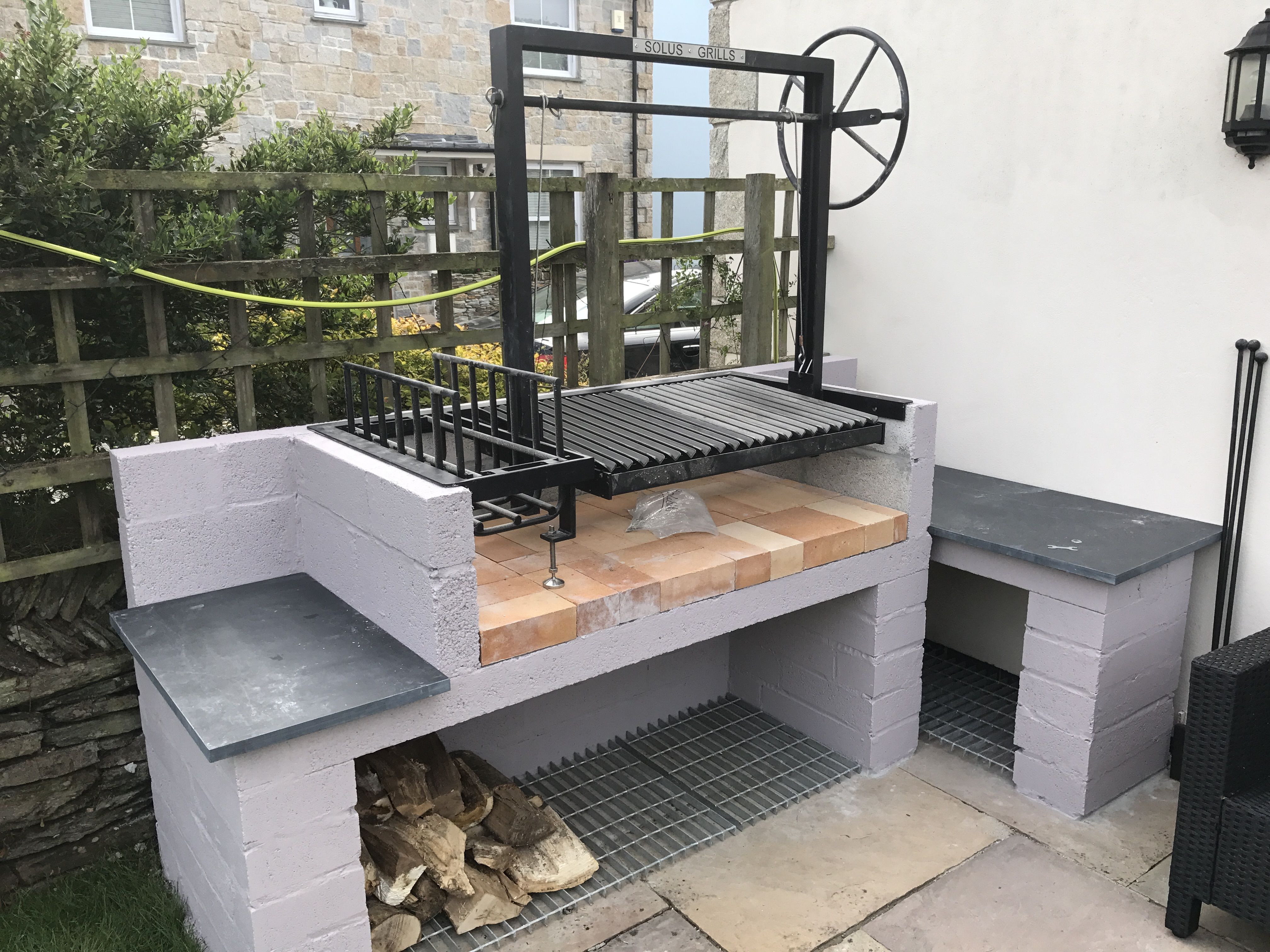 Getting There Cornish Slate Outdoor Bbq Kitchen Backyard Grilling Bbq Grill Design