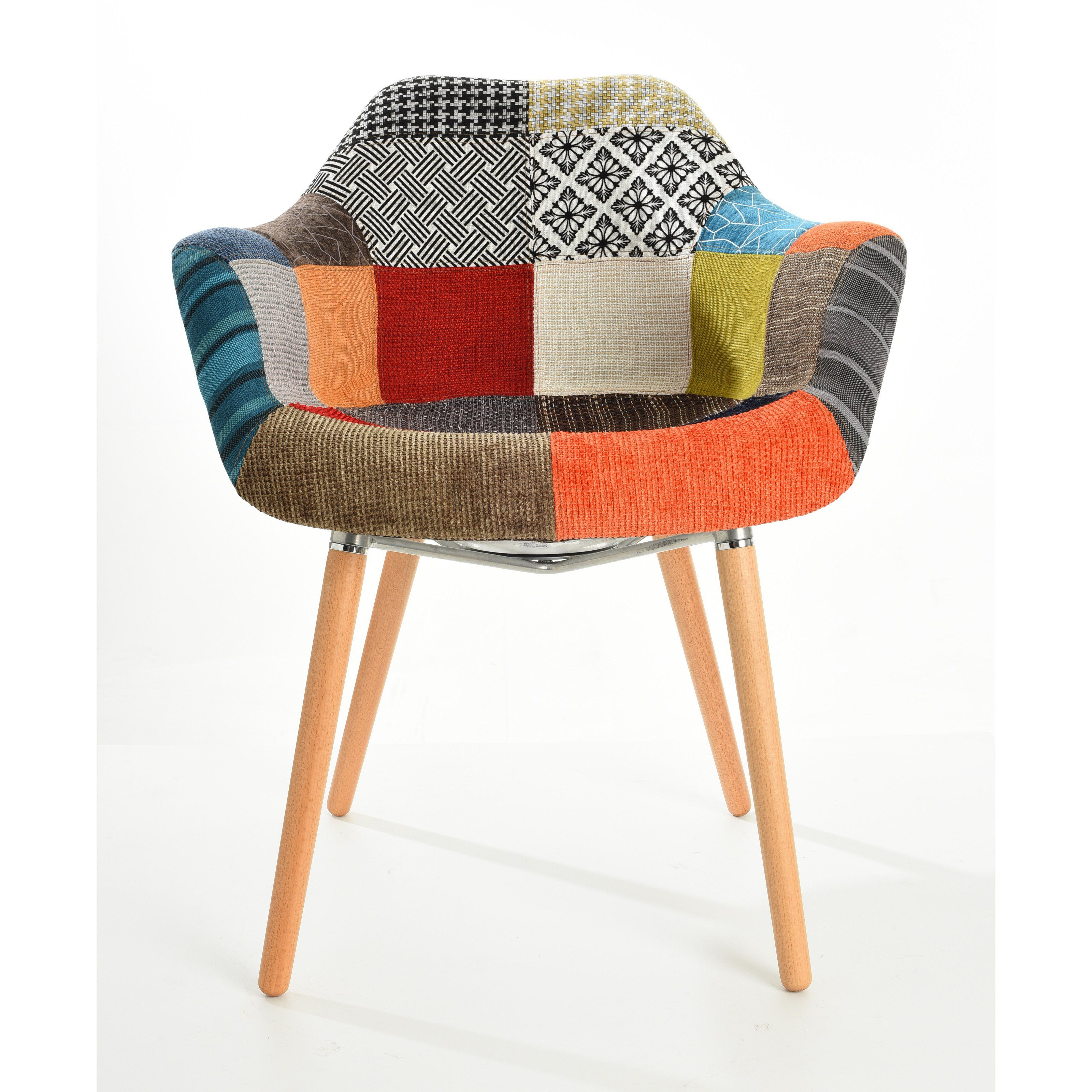 Mochi Patchwork Accent Arm Chair Set of 2 from