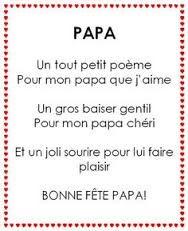 Image result for poème fête des pères