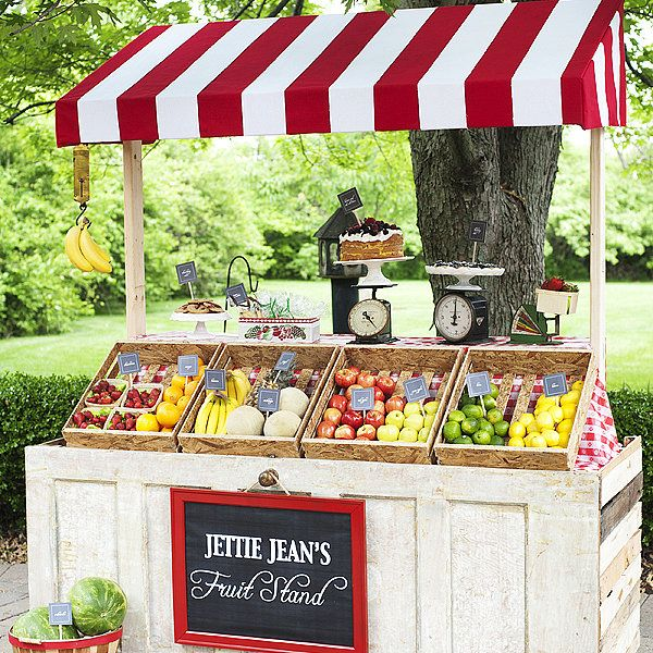 how to build a food stand