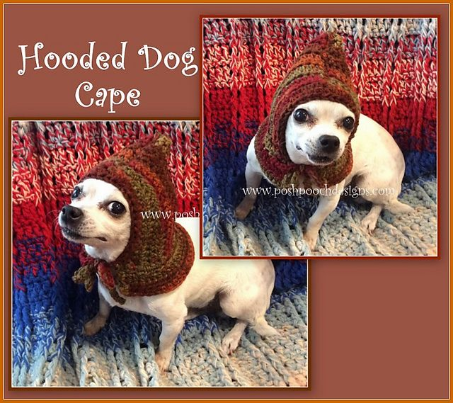 98b18921fe7 Ravelry  Hooded Dog Cape pattern by Sara Sach