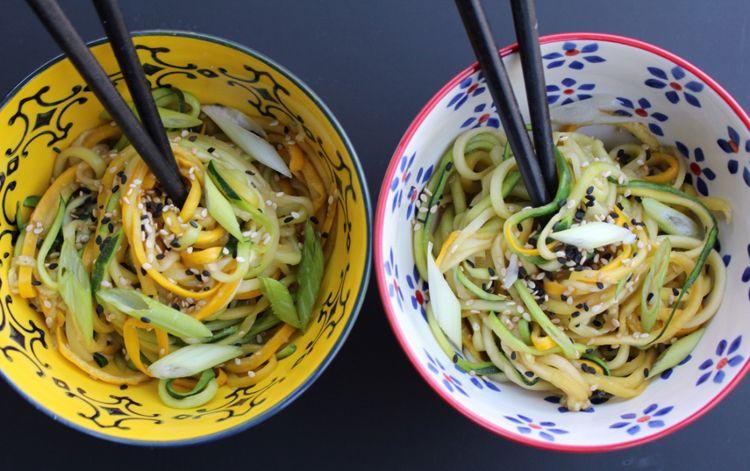 Recipe for homemade Hoisin Zucchini Noodles