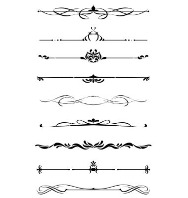 Dividers and borders set vector 1323775 - by Seamartini on ...