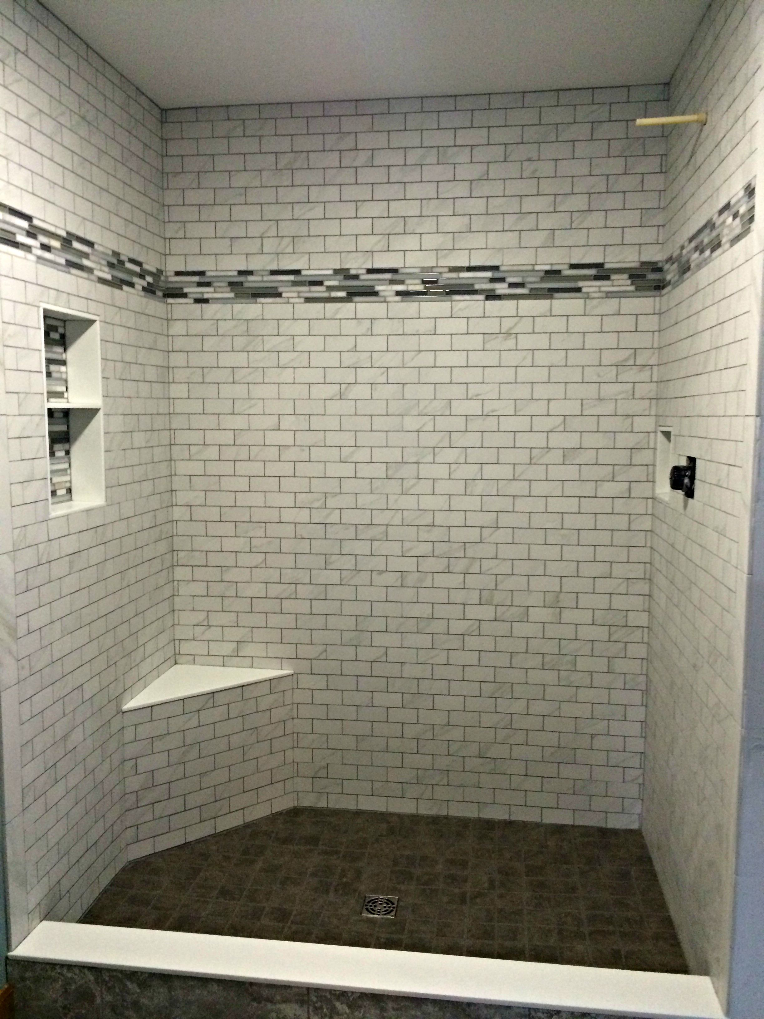 shower tile installed by hampton flooring center in easthampton ma shower walls daltile