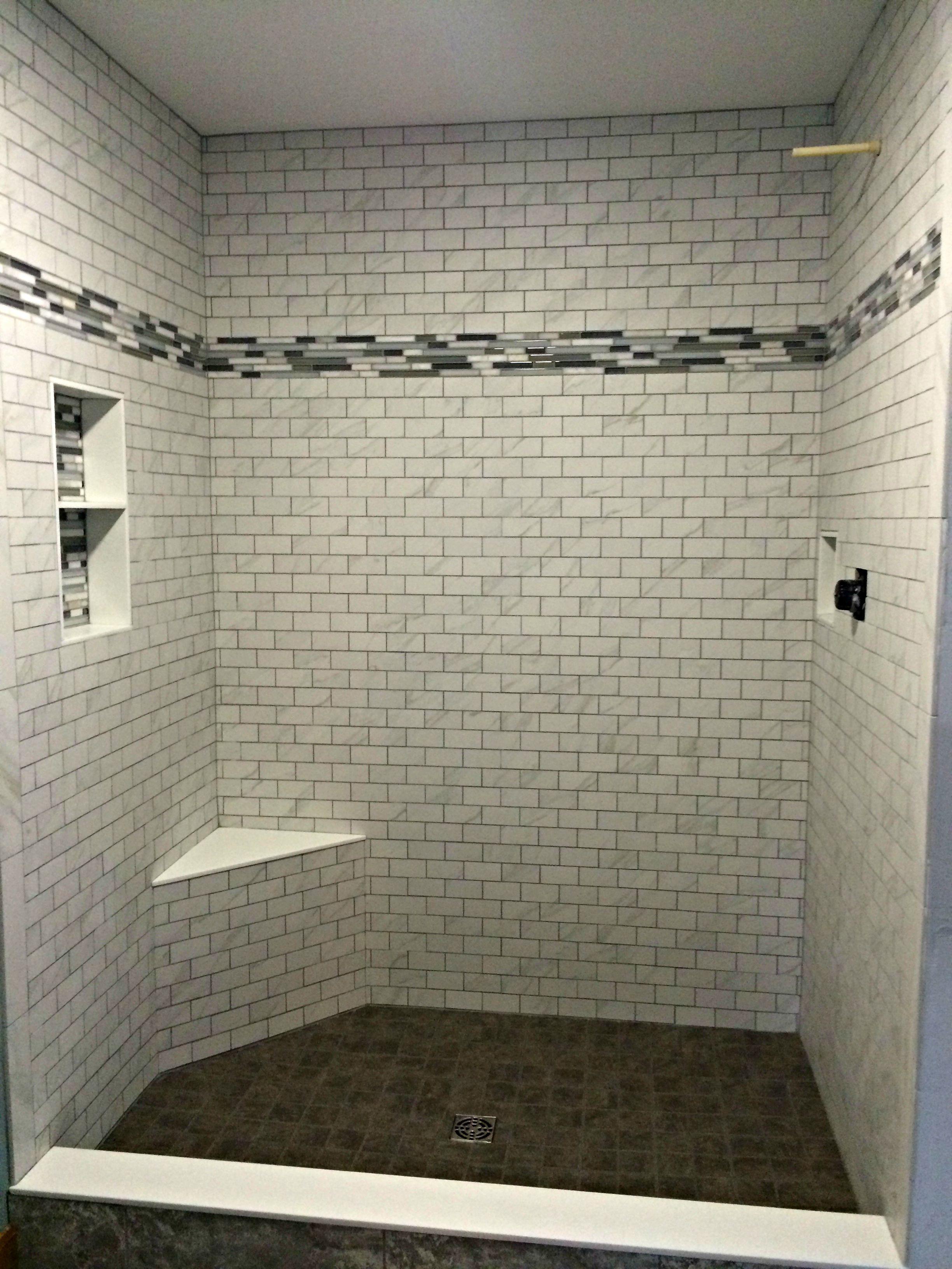 Shower tile installed by hampton flooring center in easthampton carrara mosaic tile florentine mosaics per sq dailygadgetfo Images