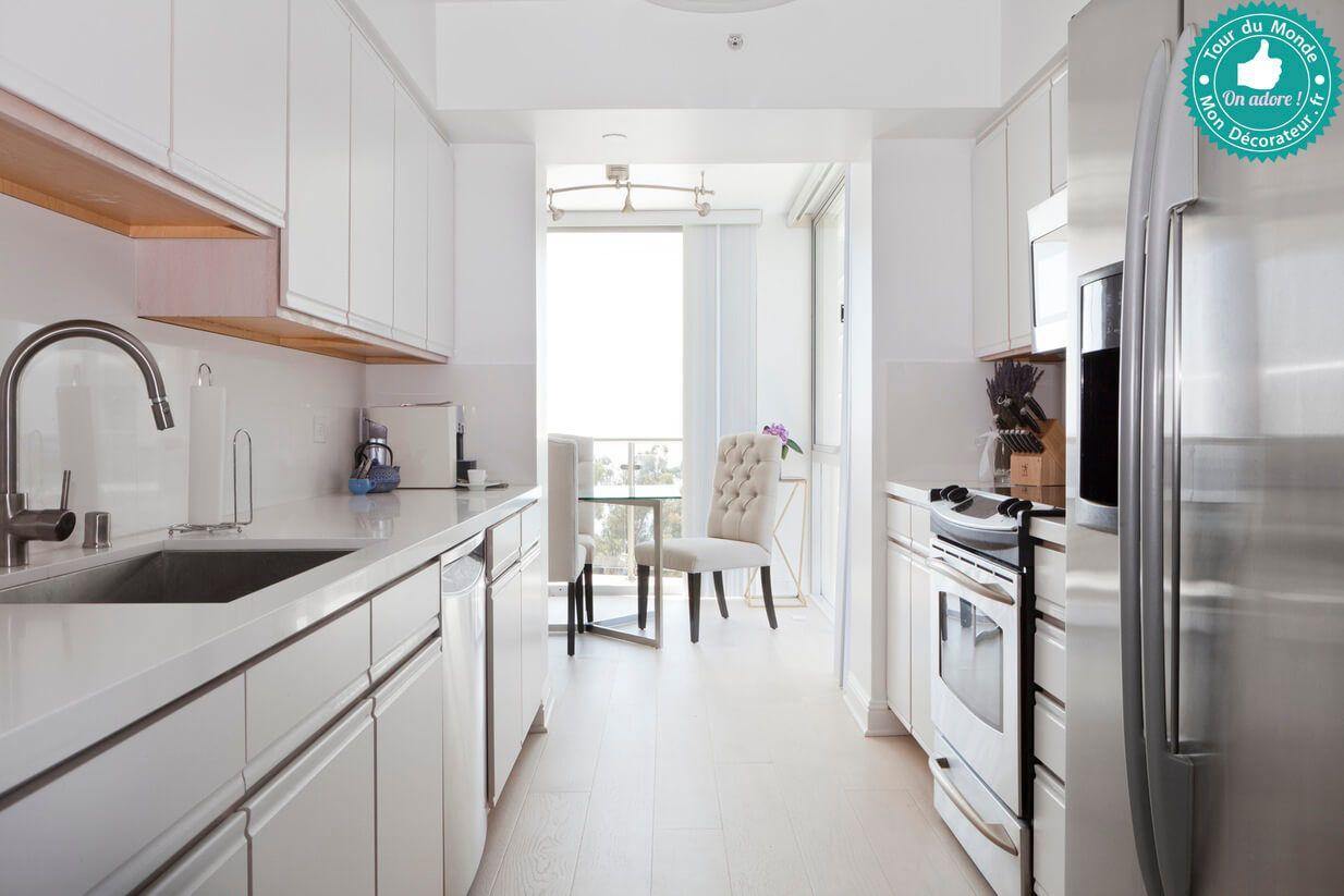Une cuisine baign e de lumi re tout en longueur et la Lumiere de cuisine
