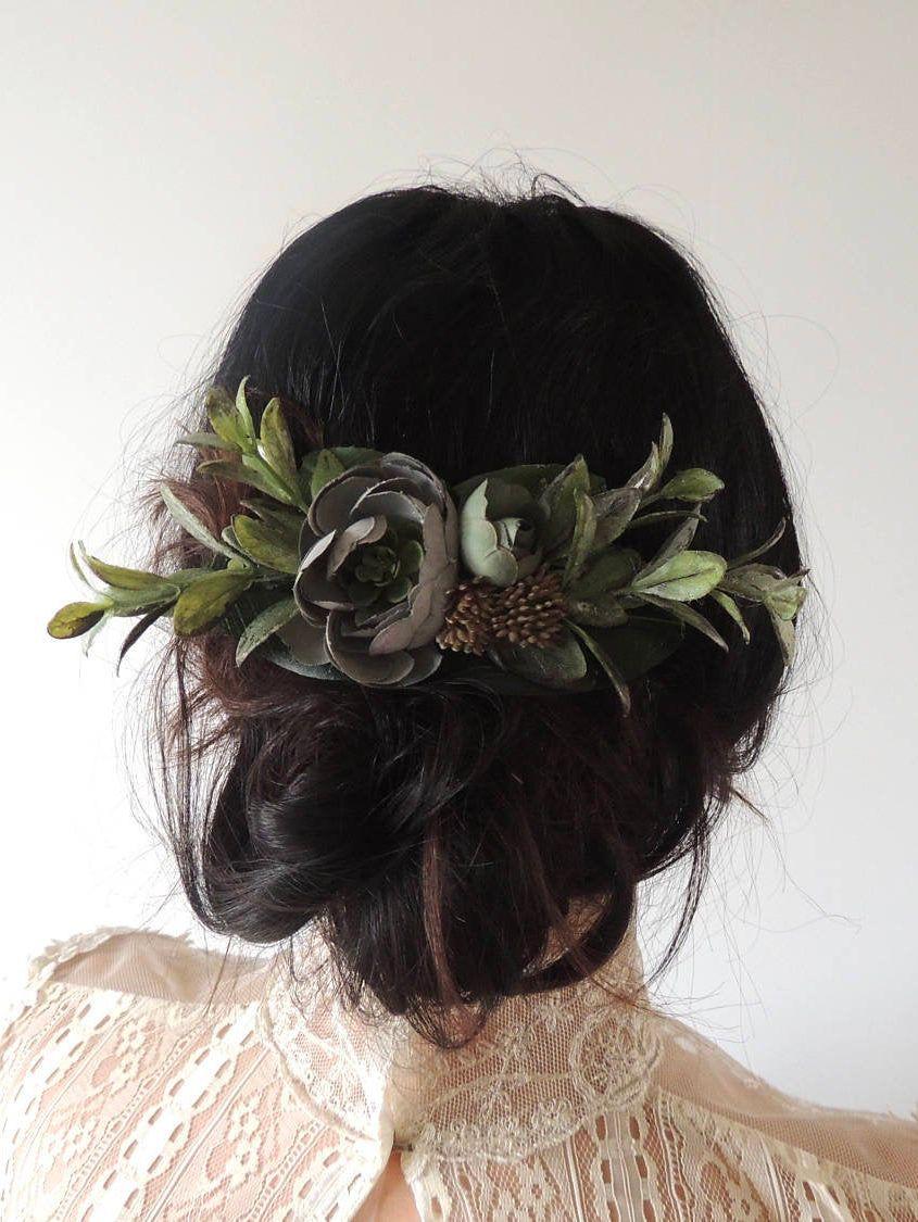 Wedding Flower Hair Clip Bridal Hairpiece for Boho Wedding | Etsy