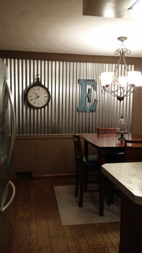 Our Corregated Tin Wall Living Room Tin W