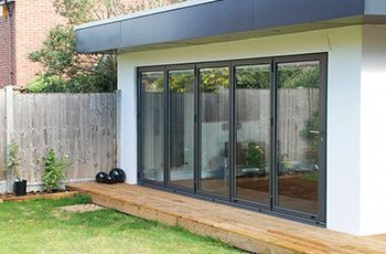 Bifold Door With Canopy Above And A Bit Of Decking