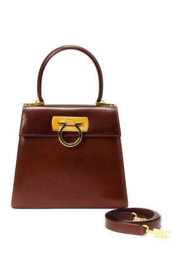 19dd85ae4a2e Vintage Ferragamo Leather Handbag