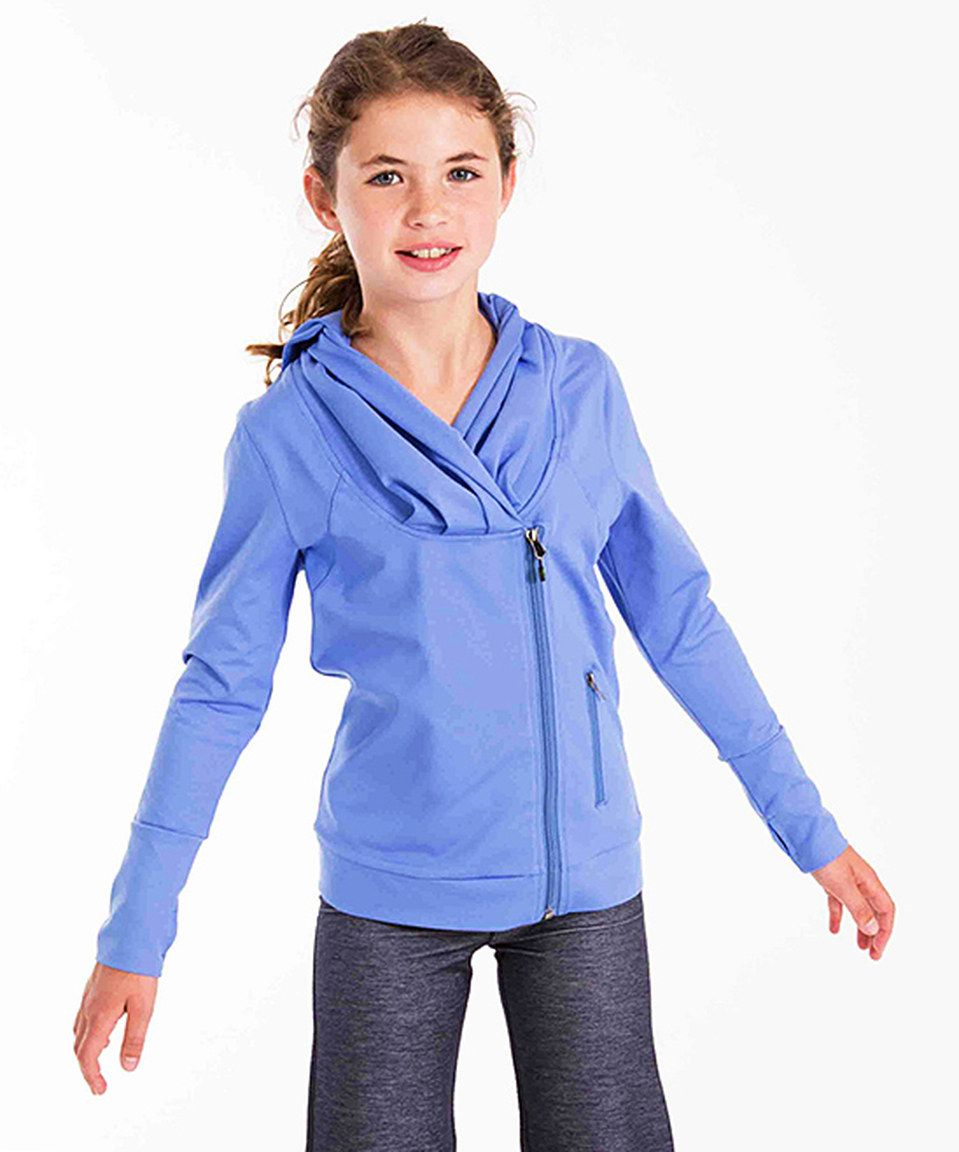 Another great find on #zulily! Purple Asymetrical Hoodie - Girls by Limeapple #zulilyfinds