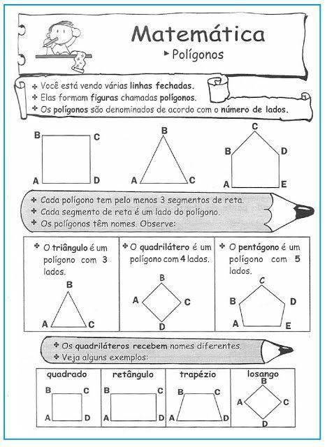 Resultado de imagem para poligonos regulares e irregulares | escola ...