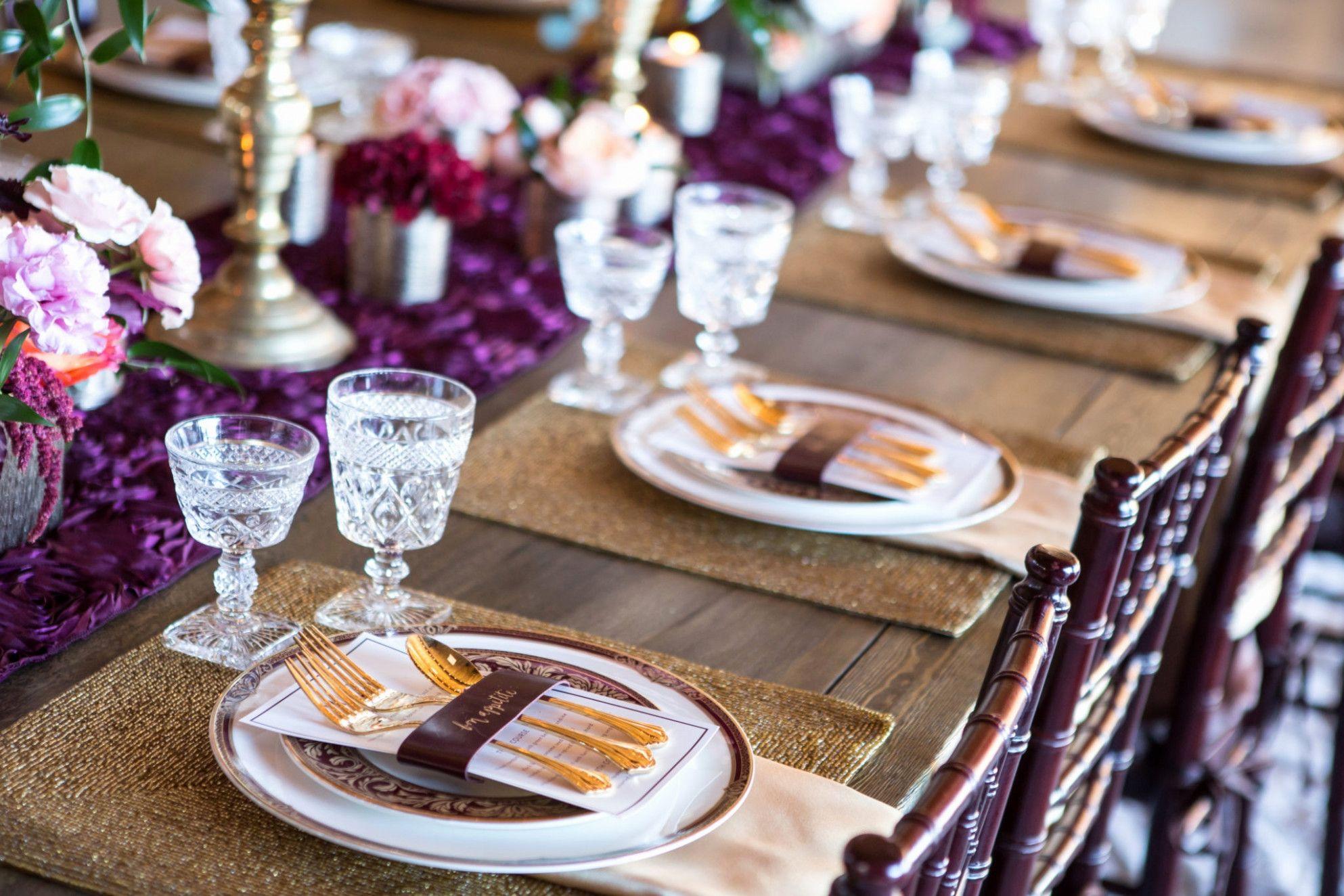 Wedding decor maroon   New Maroon and Gold Wedding Decor  Wedding Inspirations