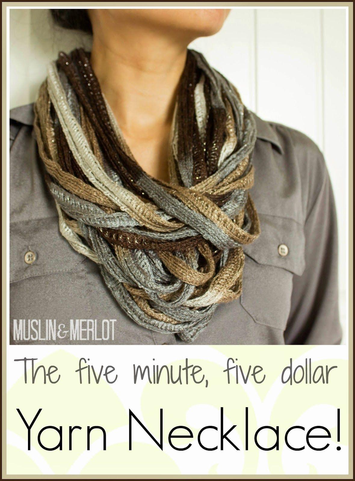 DIY Easy Ruffle Yarn Necklace!