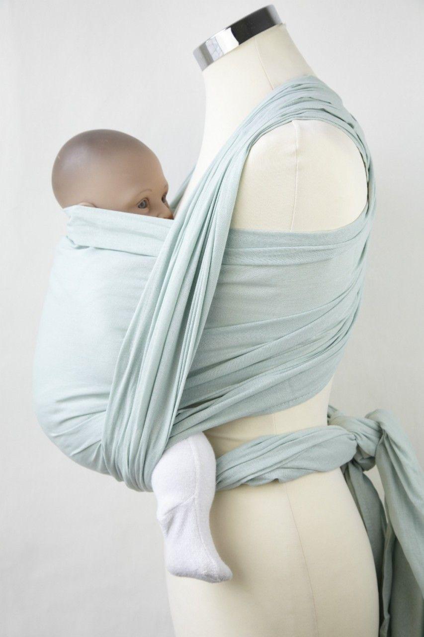 Summer Sage Gauze Wrap Calin Bleu Wraparound Baby Slings Baby