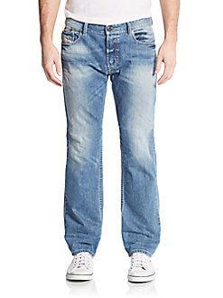 DIESEL Waykee Straight-Leg Jeans. #diesel #cloth #jeans